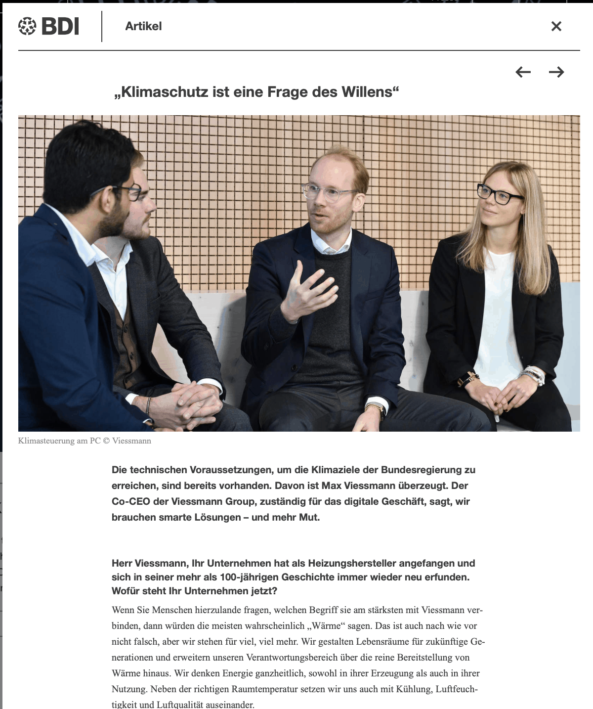 Interview mit Max Viessmann